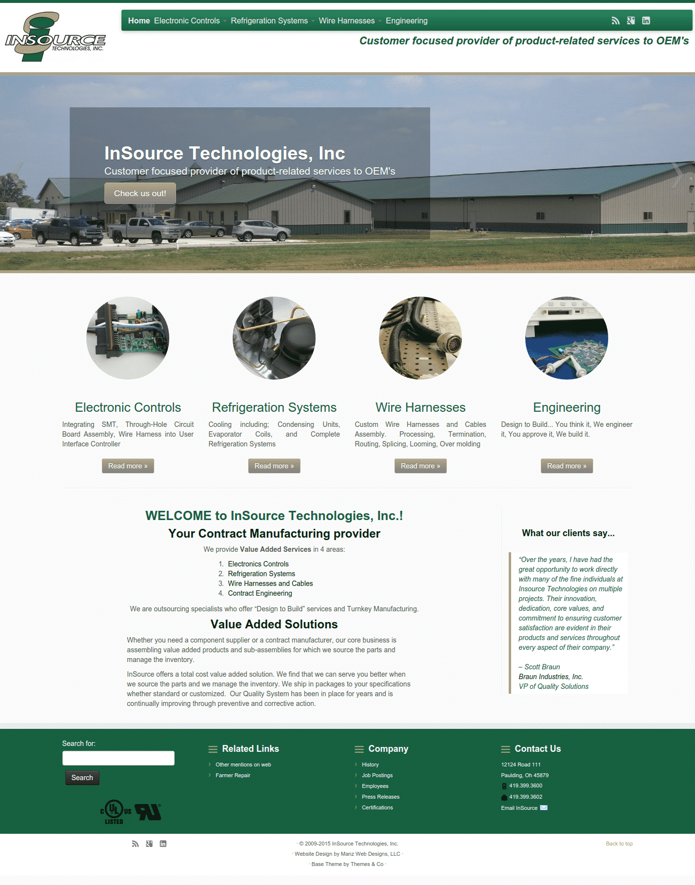 insource technologies inc website image