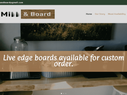 New Site Design – Valley Mill & Board